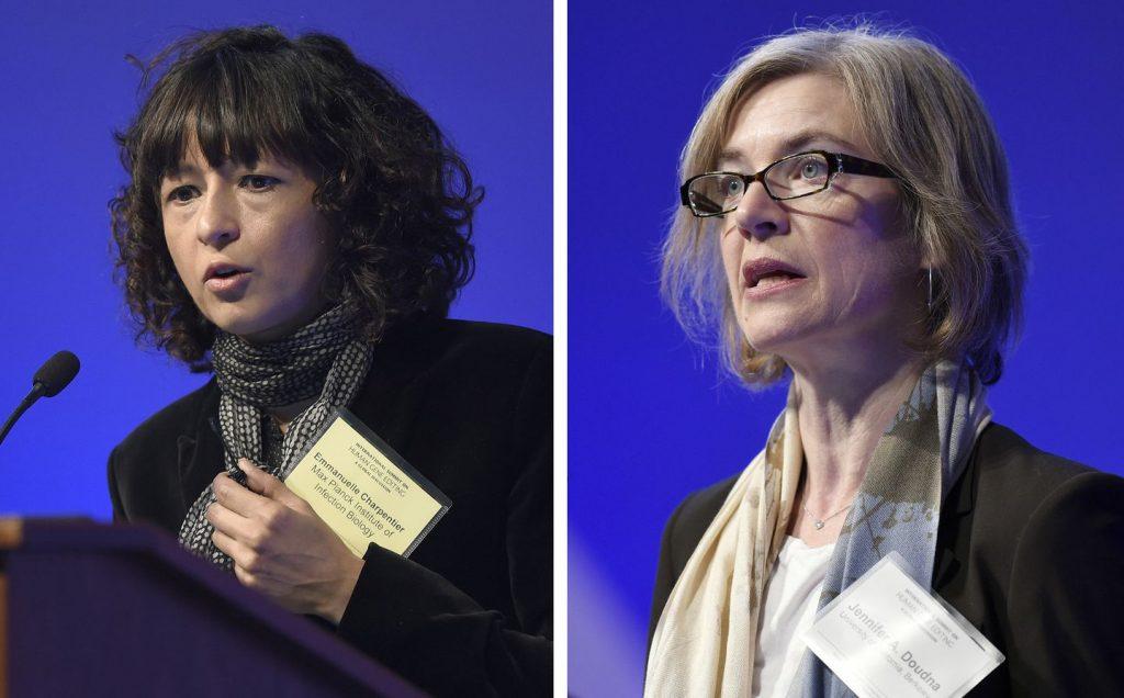 Jennifer Doudna (right) and Emmanuelle Charpentier (left) discoverers of CRISPR